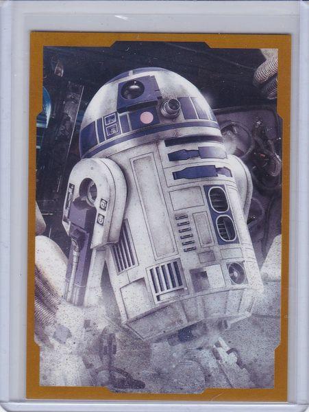 Star Wars The Last Jedi Character Portrait insert Card CP-8 R2-D2 Gold #d 21/25