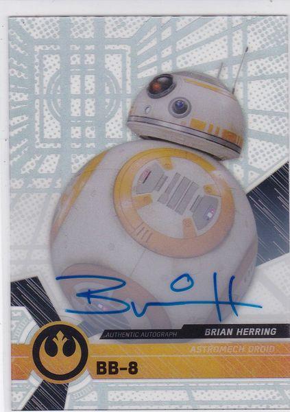 Star Wars High Tek 2017 Brian Herring as BB-8 Autograph card #39