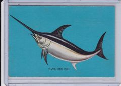 1950's Parkhurst Pixie Drink Fish Card #14 Swordfish Issued in Canada