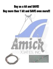 AMICK, King Pin Tether & Front Axle Standard Tether KITS
