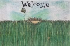 """Heavy Rough"" Golf Welcome Door Mat"