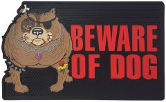 "All Weather ""Beware of Dog"" Door Mat"
