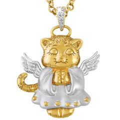 My Guardian Angel Cat Pendent