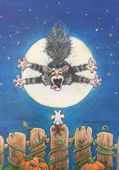 Scardey Cat Halloween Cards