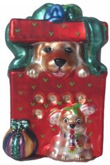 """Surprise"" Dog Ornament"