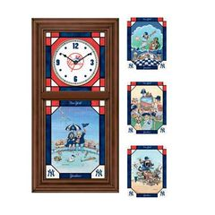 New York Yankees Stained Glass Clock