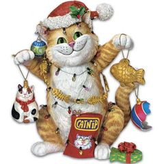 Christmas Cat-astrophe Figurine