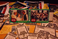 STAR WARS trading cards 1977 #252 & #227 Luke, Han, Leia, Rebel fighters ORIGINAL