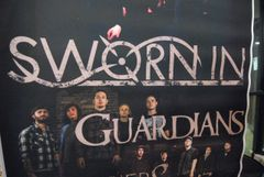SWORN IN *HUGE* 1-of-a-kind concert poster GUARDIANS, OF GLACIERS, NARROW HEARTS 11/23/12