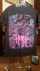 """THE ANIMAL IN ME black t-shirt """"Out Come The Wolves"""" MEDIUM"""
