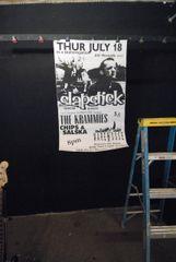 SLAPSTICK / KRAMMIES / CHIPS & SALSKA large 1996 concert poster ALKALINE TRIO