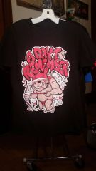 A DAY TO REMEMBER black T-shirt stupid cupid SMALL raided from Kodie Testa of Narrow Hearts