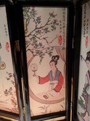 Japanese 4-panel desktop divider, beautiful oriental piece