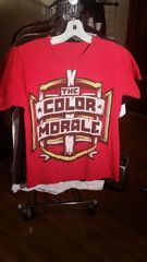COLOR MORALE red crest t-shirt SMALL raided from Kodie Testa of Narrow Hearts
