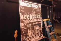 KEEPSAKE • FALL OUT BOY 03/19/03 1-OF-A-KIND HUGE concert poster