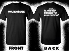 "*NEW* WAREHOUSE ""Long way to the top/49 STAIRS"" T-shirt Black"