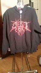 CHELSEA GRIN logo Black zip hoodie Medium raided from Kodie Testa of Narrow Hearts