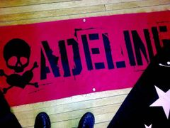 THREE (3) RARE ADELINE Green Day Clothing Brand BANNERS!