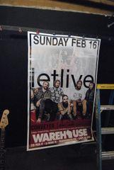 LETLIVE incredible HUGE 1-of-a-kind custom concert poster 02/16/14