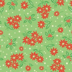 Anna Griffin Green Poinsettia (Twinkle Bright Collection)