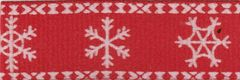 Celebrate It Ribbon 5/8 Inch Red & White Snowflake Grosgrain Ribbon