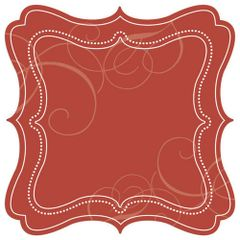 Creative Imaginations Cranberry Swirl Die Cut (Christmas in the Kitchen Collection)
