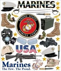 Creative Imaginations Marine Gear Stickers