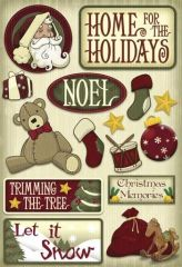 Karen Foster Home for the Holidays Cardstock Stickers (Christmas Collection)