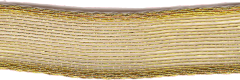 Offray Ribbon 3/8 Inch Gold Sheer Wired Edge Ribbon
