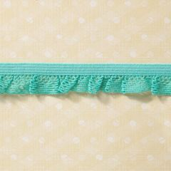 Webster's Pages 3/4 Inch Aqua Picnic Ruffles Trim (Sunday Picnic Collection)