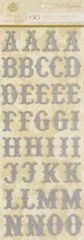 Anna Griffin Chipboard Alphabet Stickers Silver (Cecile Collection)
