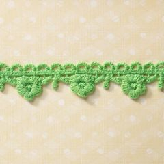 Webster's Pages 3/4 Inch Green Flowerdrop Trim (Sunday Picnic Collection)