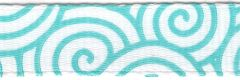 Celebrate It Ribbon 3/8 Inch Aqua Swirl Grosgrain Ribbon