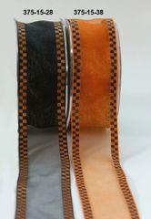 May Arts Ribbon 1.5 Inch Sheer / Woven Check Edge / Wired Ribbon