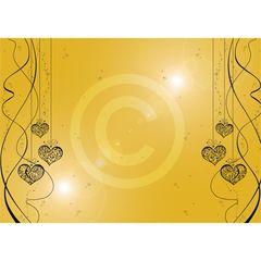 Kanban Crafts Gold Mirror Hearts