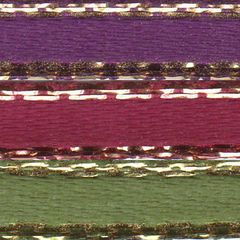 Celebrate It Ribbon 1/8 Inch 3 Colors Purple, Pink & Green Satin Ribbon