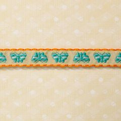 Webster's Pages 1/2 Inch Picnic Butterflies Trim (Sunday Picnic Collection)