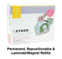 "Xyron 5"" or 510 Creative Station Machine Refills"