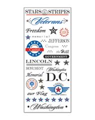 Creative Imaginations Washington DC Clear Stickers