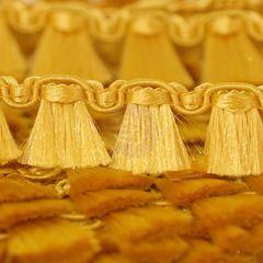 Prima 1/2 Inch Gold Tassel Trim