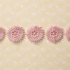 Webster's Pages 1 Inch Pink Starburts Trim (Palm Beach Collection)