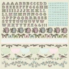 KaiserCraft Alpha Sticker Sheet (Bonjour Collection)