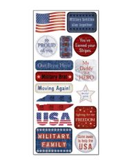 Creative Imaginations Military Life Cardstock Stickers