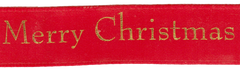 Celebrate It Ribbon 5/8 Inch Merry Christmas Satin Ribbon