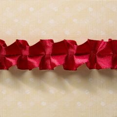 Webster's Pages 1 Inch Red Winner Ruffle Trim (Game On Collection)