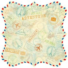Best Creation Stamp It Airmail Die Cut (Travel Forever Collection)