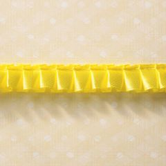 Webster's Pages 5/8 Inch Yellow Ruffle Trim (Everyday Poetry Collection)