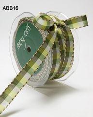 May Arts Ribbon 1/2 Inch Check Stitch Ribbon