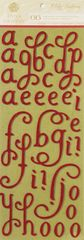 Anna Griffin Chipboard Alphabet Stickers (Holiday Traditions Collection)
