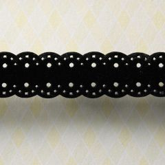 Webster's Pages 3/4 Inch Black Pin Pattern Trim (All About Me Collection)